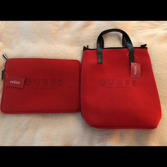 Guess Bags   Handbag Tote With Laptop Case Combo   Poshmark b079a8ae58